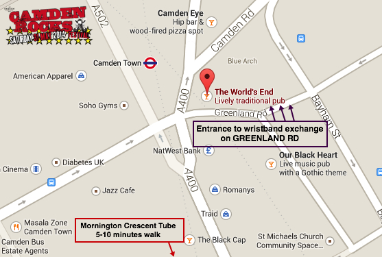 Wristband Exchange Map_Entrance on GREENLAND ROAD