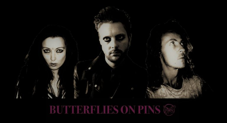 BUTTERFLIES ON PINS